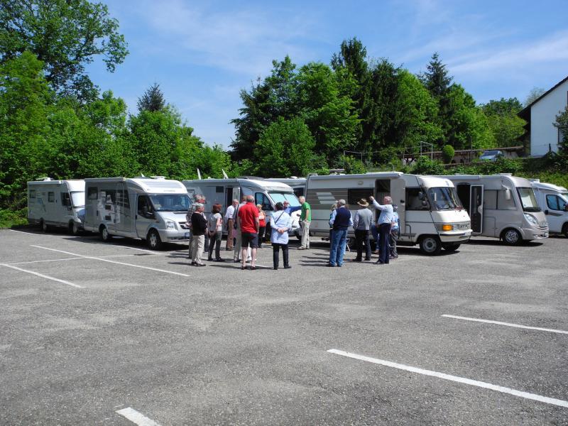 Treff zur Elsass-Tour des Eriba-HYMER-Club Rhein-Neckar