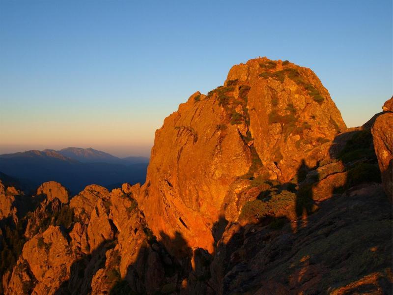 Gipfelfelsen von der Punta Velaco