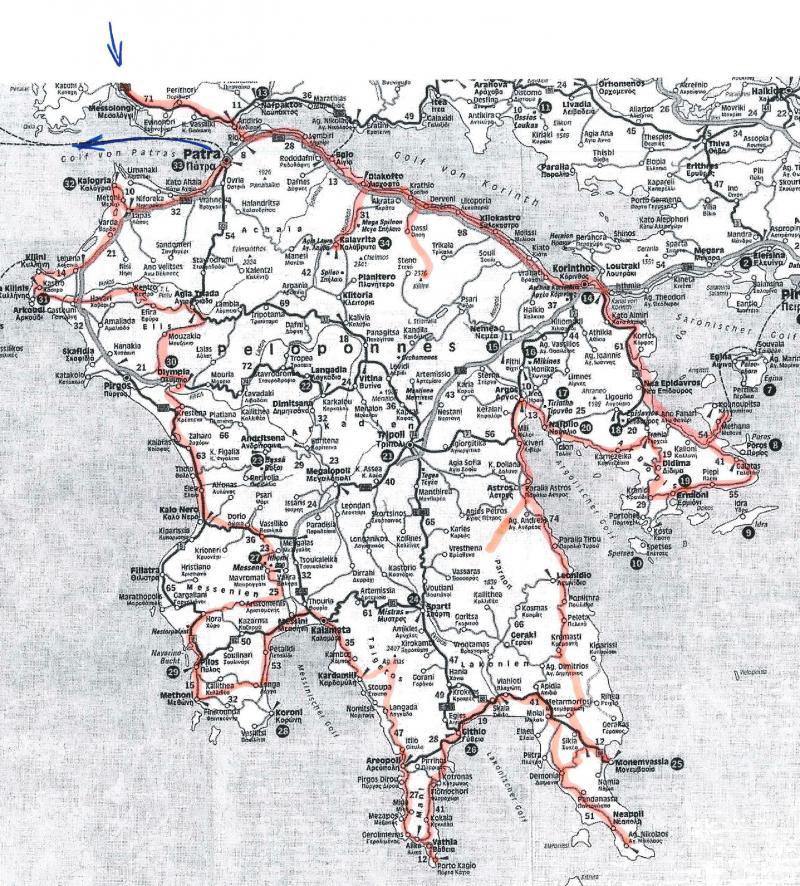 Griechenland Peloponnes Karte Deutsch.Peloponnes Die Vielfältigkeit Griechenlands Auf Kleinem Raum