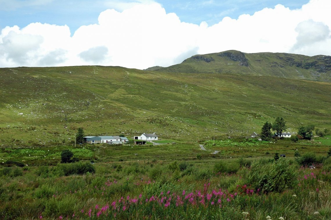 Blick ins Eglish Valley, Donegal