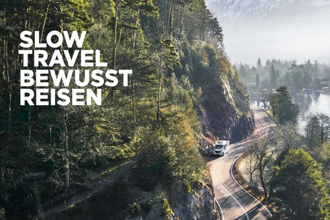 Screenshot der Slow Travel Landingpage der Erwin Hymer Group