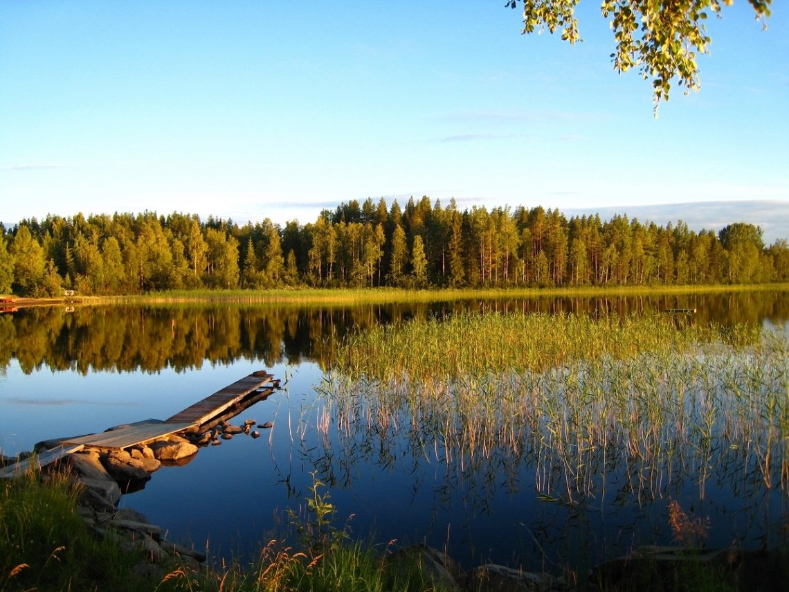 Lake in Västerbotten, Sweden