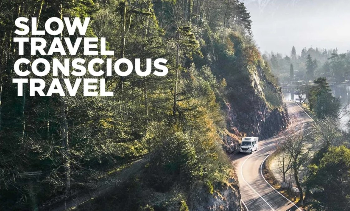 Screenshot of the Slow Travel landing page of the Erwin Hymer Group