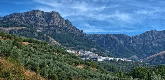 Landscape view of the Tejada, Almijara and Alhama nature park
