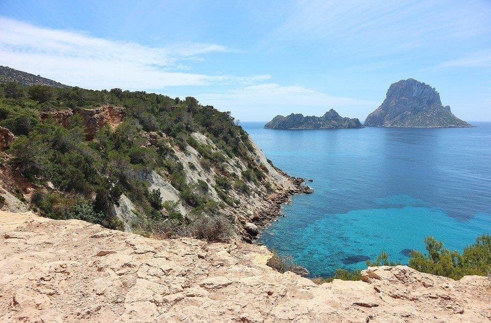 Natuurpark Es Vedra op Ibiza.