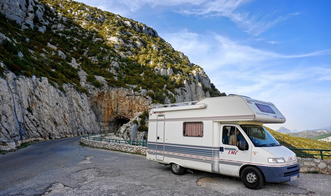 Motorhome in the Verdon Gorge in Provence