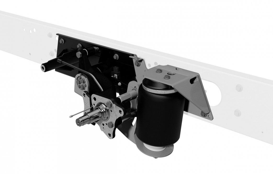 Abbildung einer Voll-Luftfederung für Reisemobile