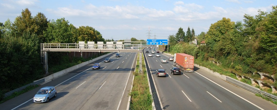 View of Autobahn in Germany