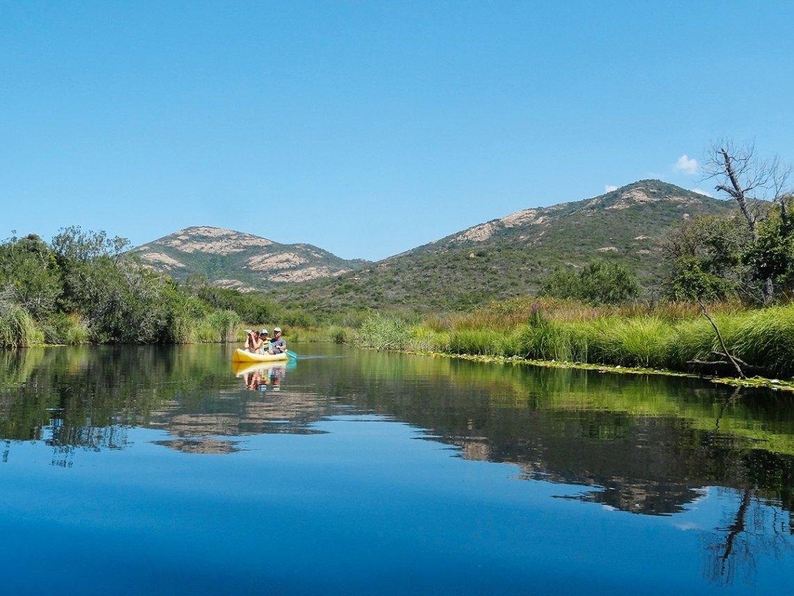 Kanutour auf dem Fango auf Korsika