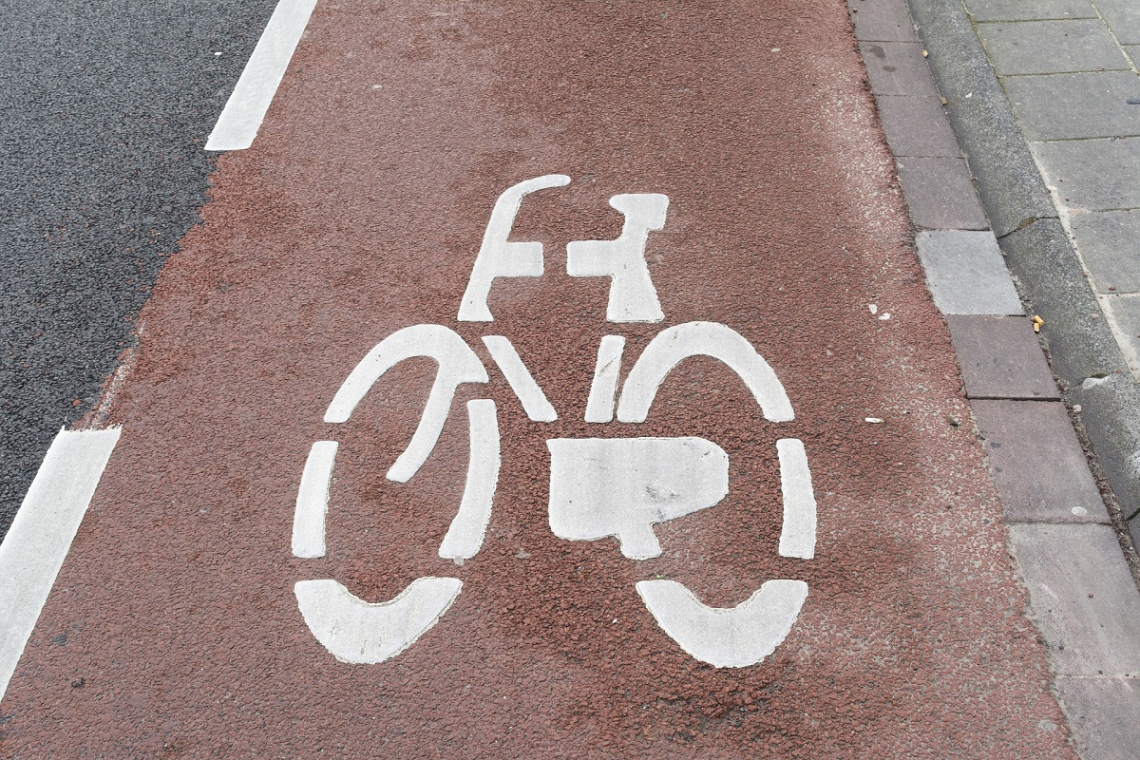 Fahrradweg Straße Holland