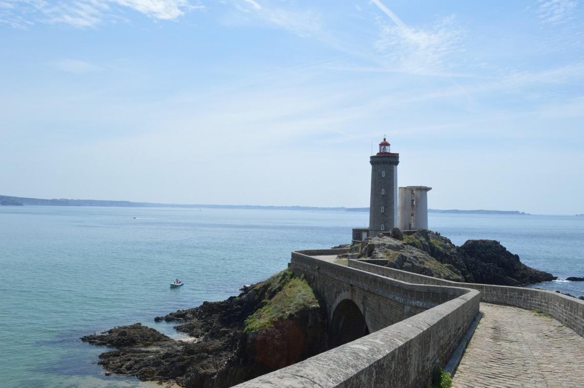 Lighthouse in Brittany, France
