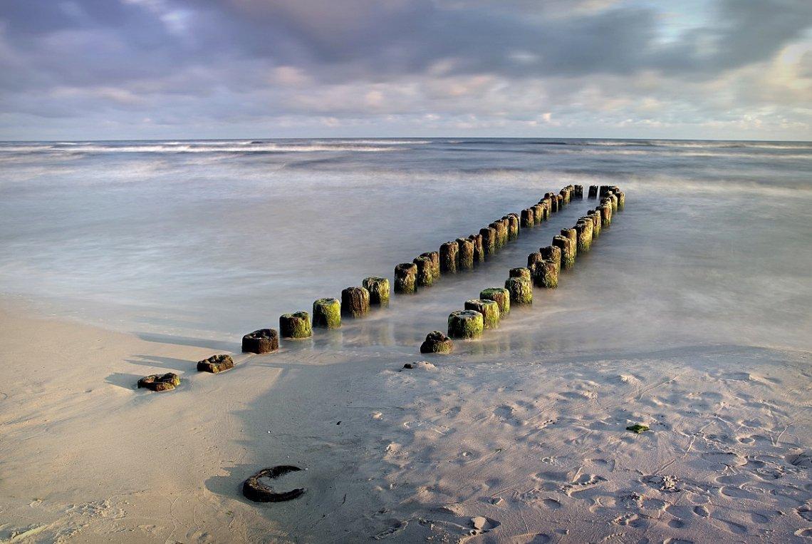 Strand Ostsee Polen Wellenbrecher