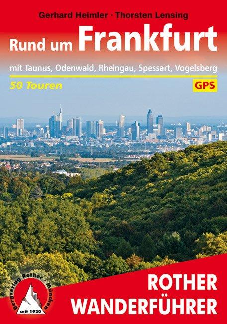 Buchcover des Rother Wanderführers Rund um Frankfurt