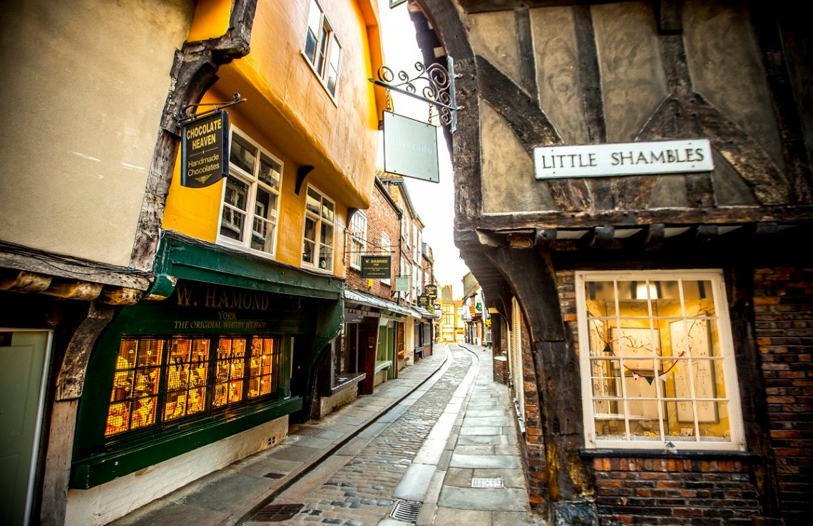 Little Shambles Straße in York, England