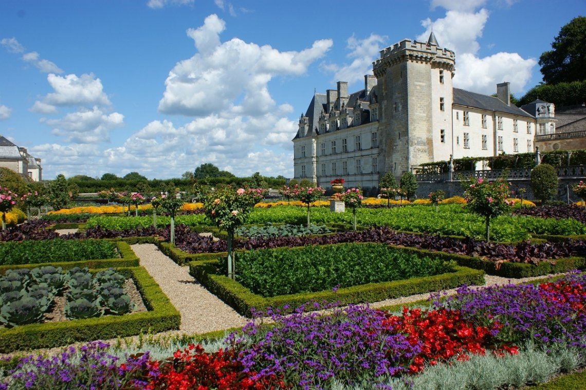 Gemüsegarten Schloss Villandry im Loiretal