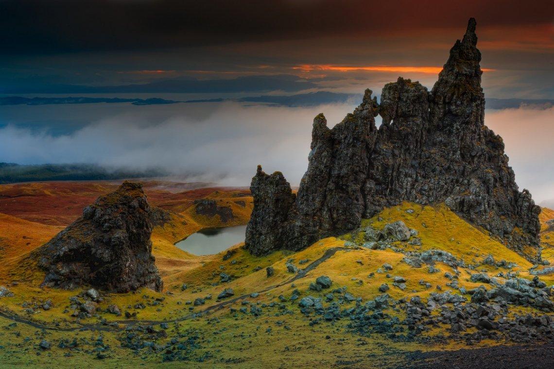 Isle of Sky in Schottland im Herbst