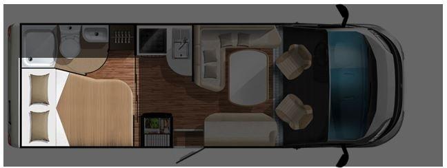 Grundriss Seitenbett Reisemobil