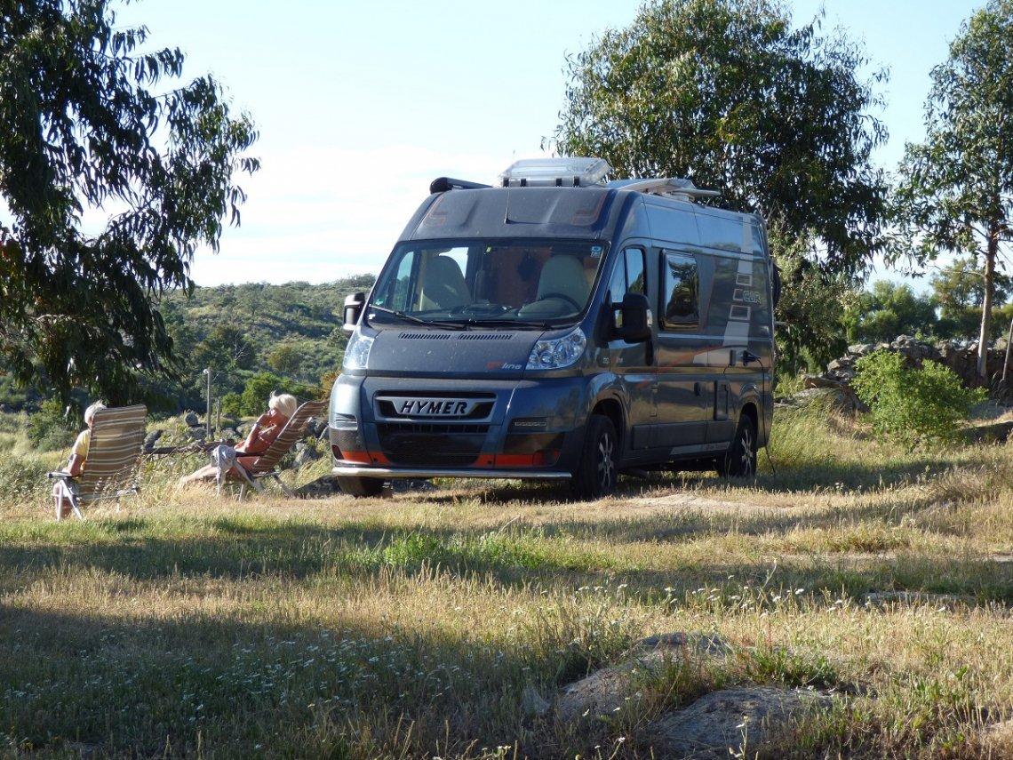 Blick auf den Naturcampingplatz Camping Beira-Marvao Alentejo in Portugal