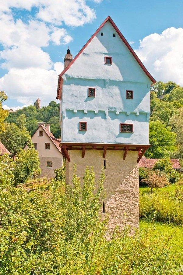 Topplerschösschen in Rothenburg bei Sonnenschein