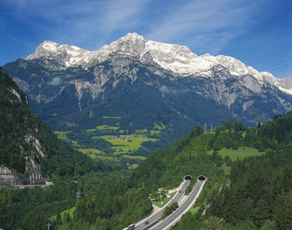 Tauern motorway in Austria