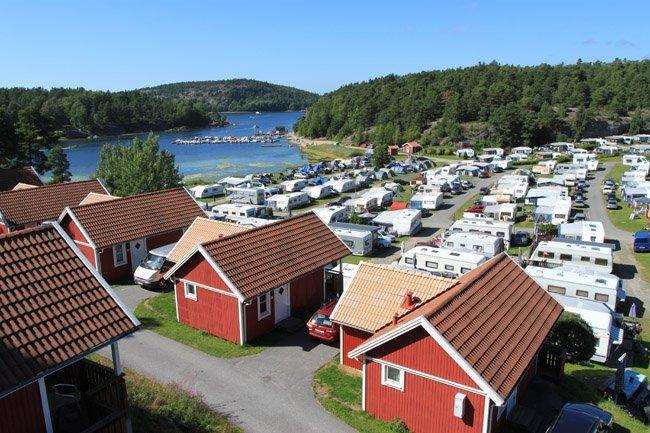 View onto the campsite Daftö near Strömstad