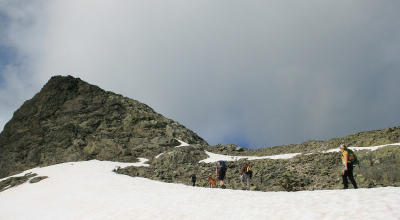 Schneefeld Mugnetind Norwegen Valdres