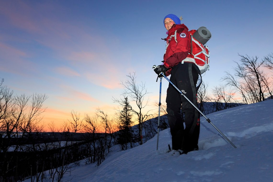 Sneeuwschoenwandeling op de Dundret in Zweeds Lapland