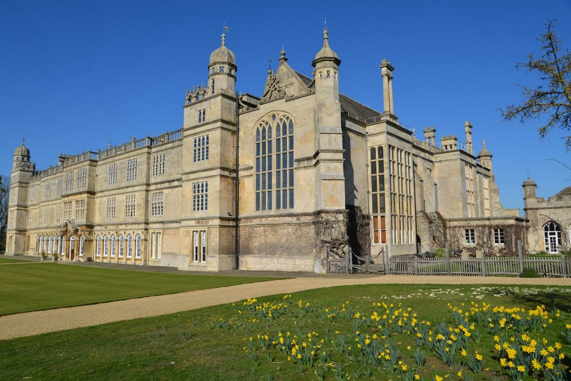 Burghley House at Stamford, England, dating from the 16th century