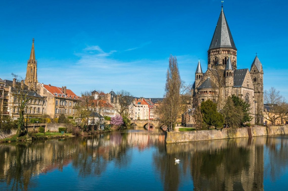 Architektonischer Mix in Metz an der Mosel
