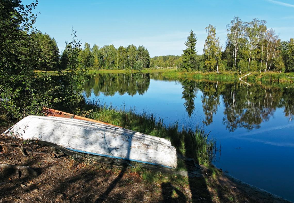 Fluss Sundbornaan, Schweden, Dalarna