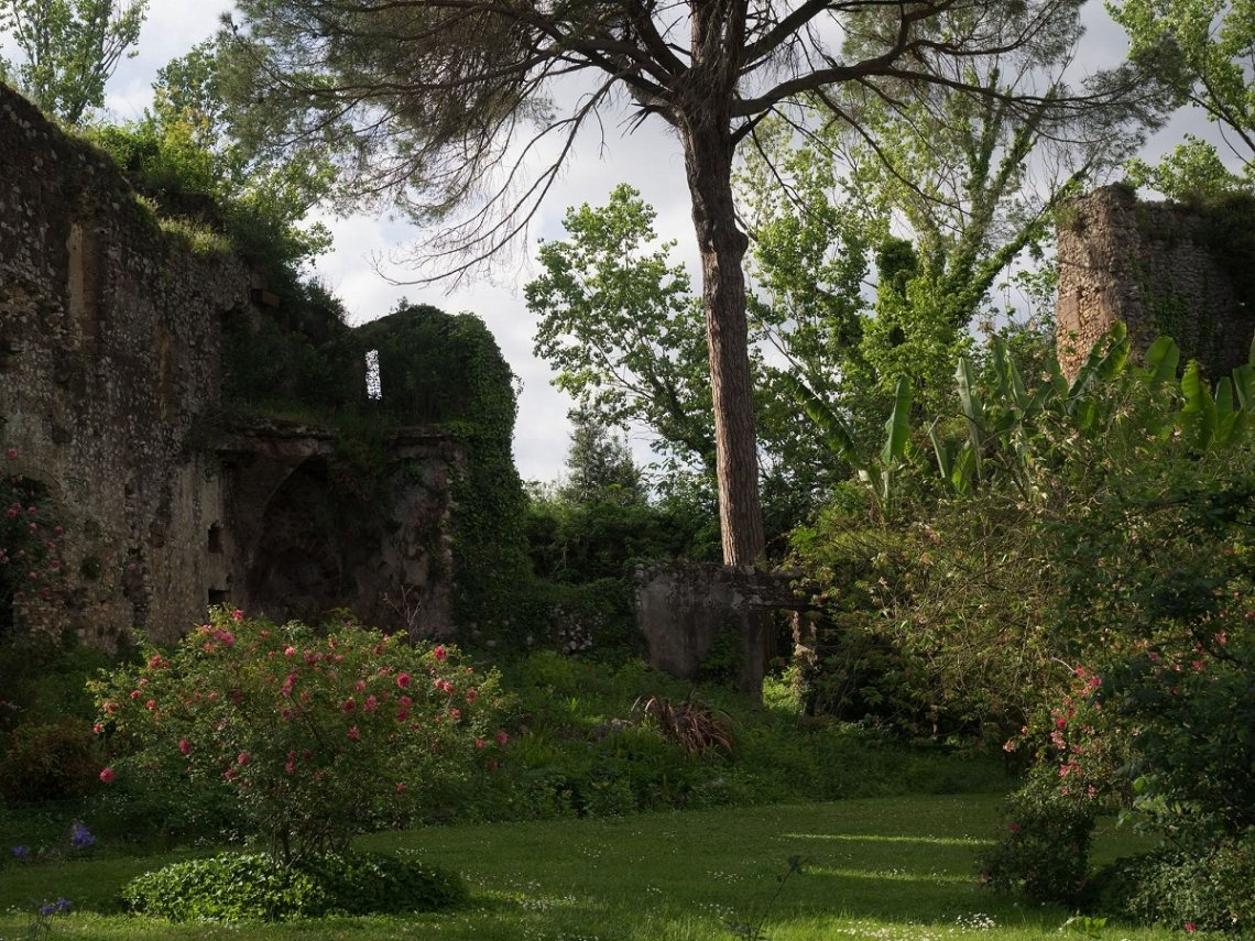 View into the garden of Ninfa