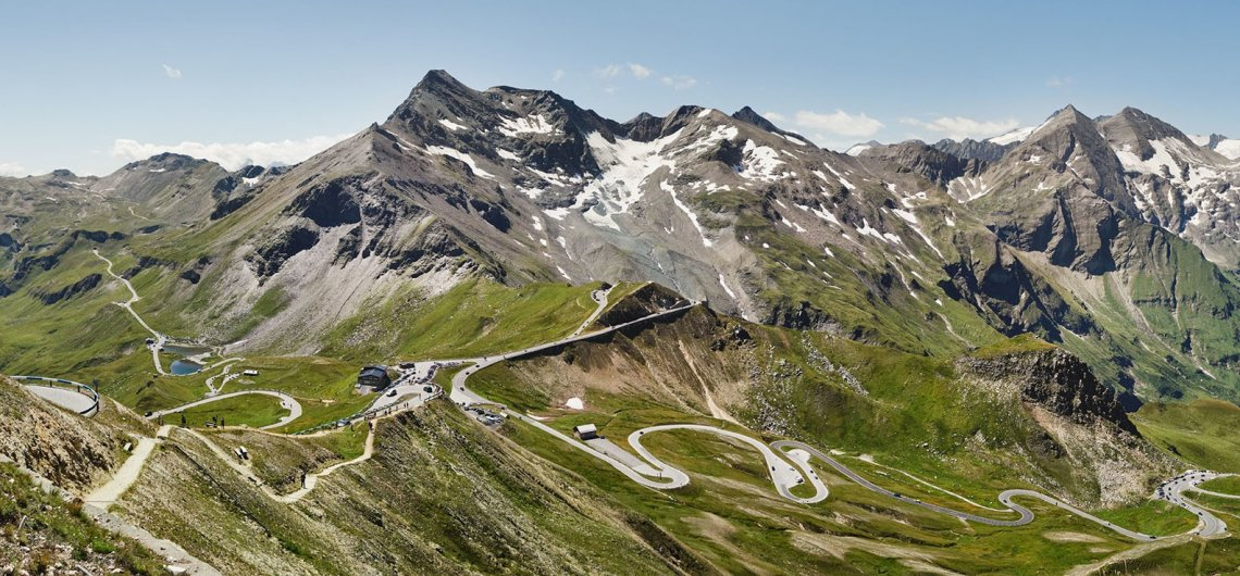 View from above of the Grossglockner High Alpine Road