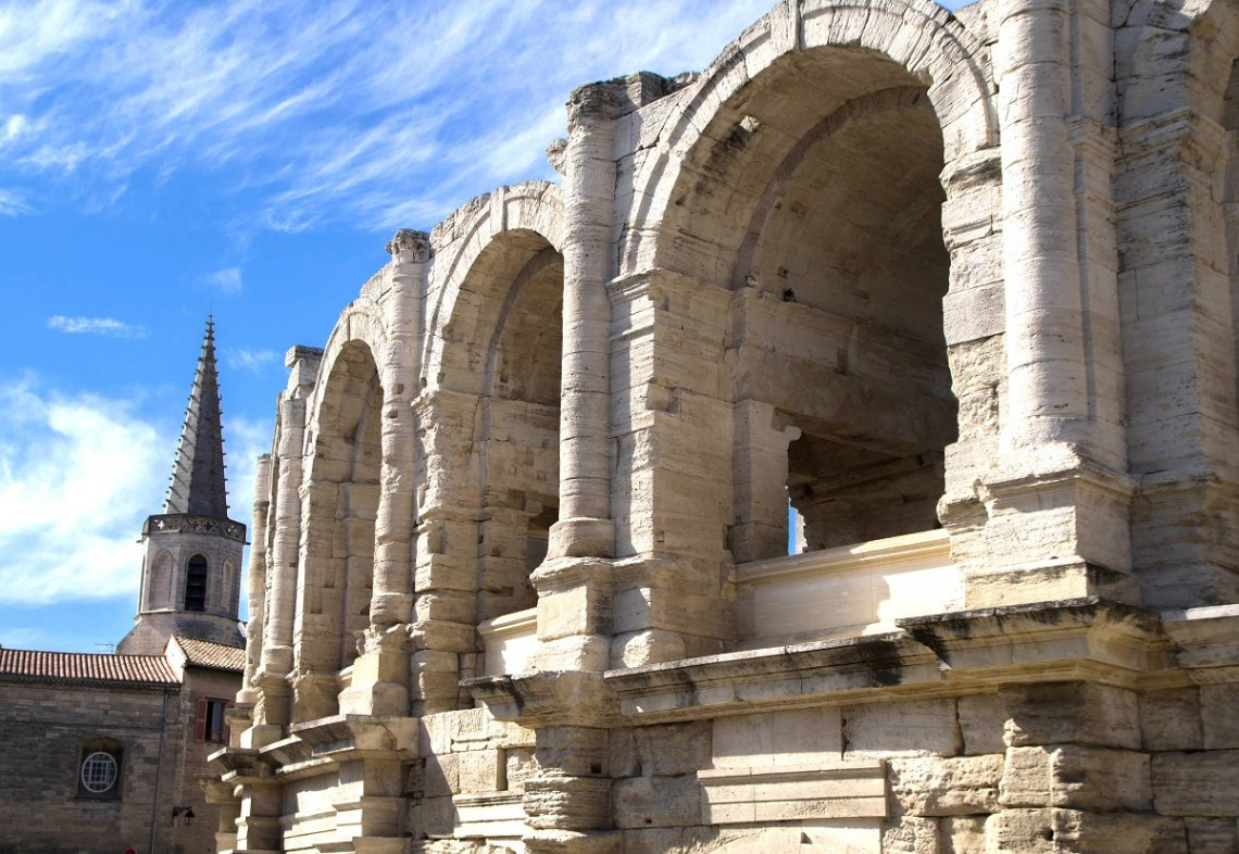 Amphitheater in Arles, Frankreich