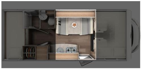 Grundriss Volldinette im Wohnmobil