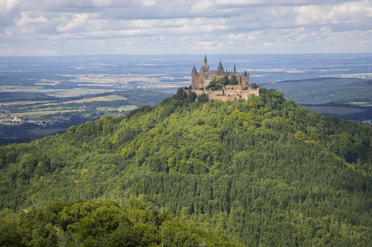 Het adembenemende kasteel Burg Hohenzollern