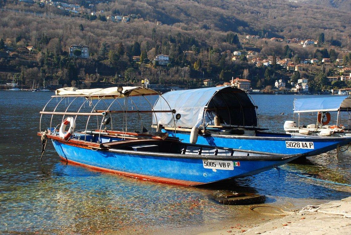 Boote der Fischer von der Isola dei Pescatori