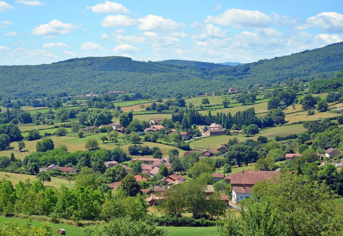 Landschaft Burgund Frankreich
