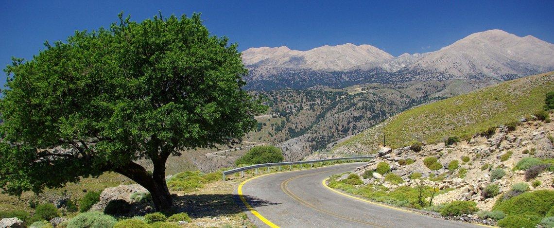 Landstraße Griechenland Hinterland