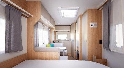 Innansicht Wohnwagen Sassino 450 D