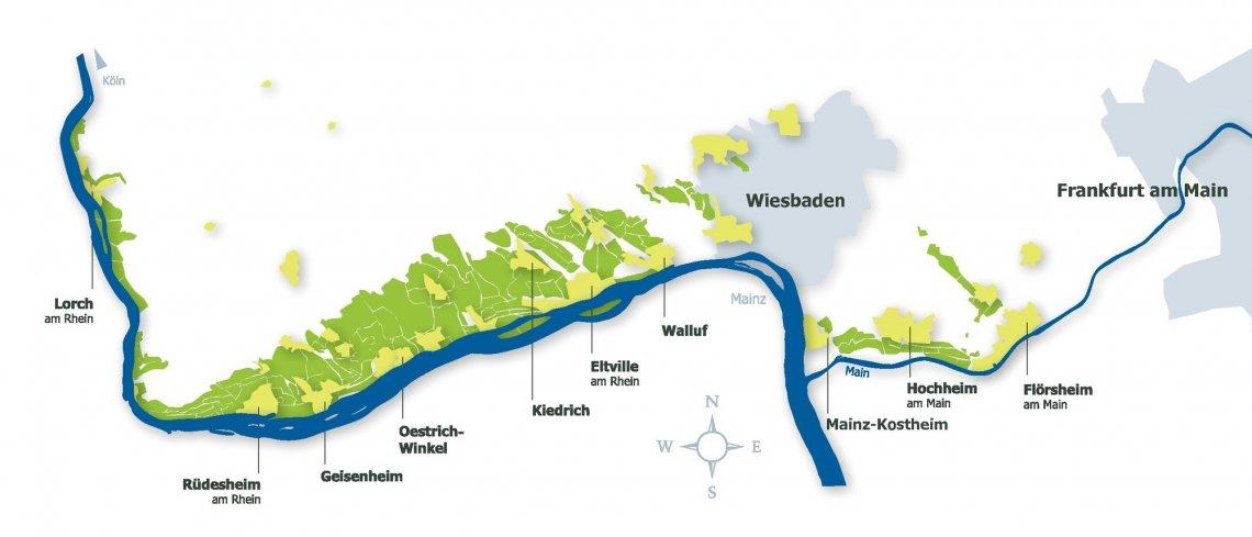 Grafische Darstellung des Gebiets Rheingau
