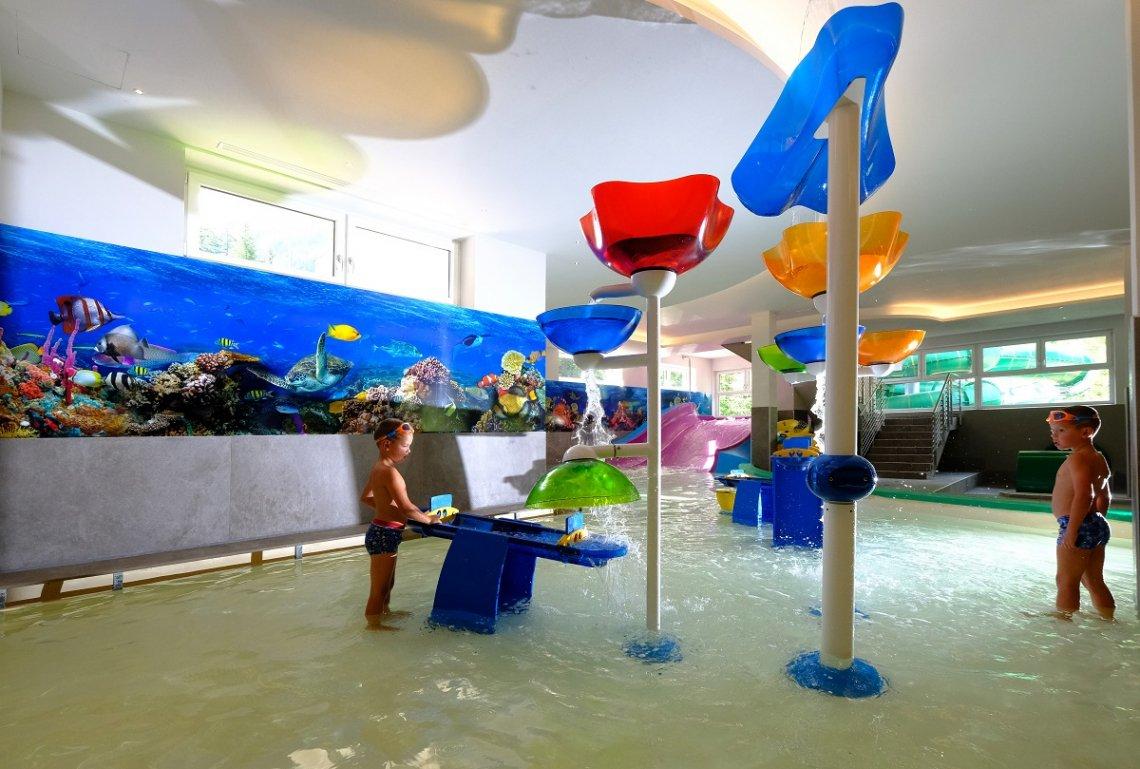 Kinderhallenbadbereich auf dem Campingplatz Vidor in Italien