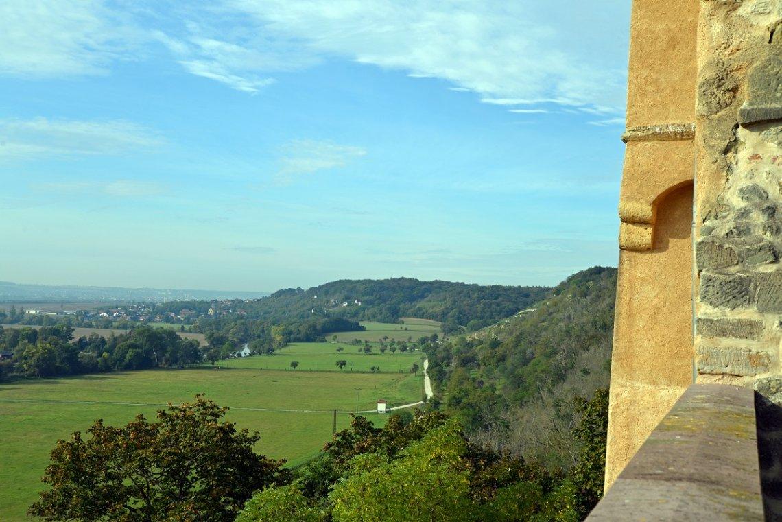 Blick von Schloss Godeck über die Umgebung