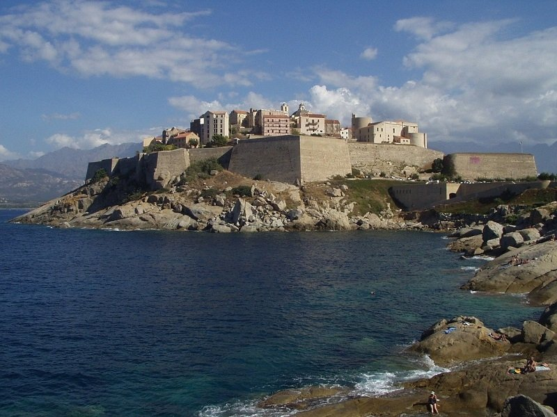 view of the Calvi fort from the sea