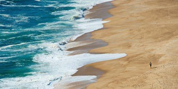 Beach in Nazaré