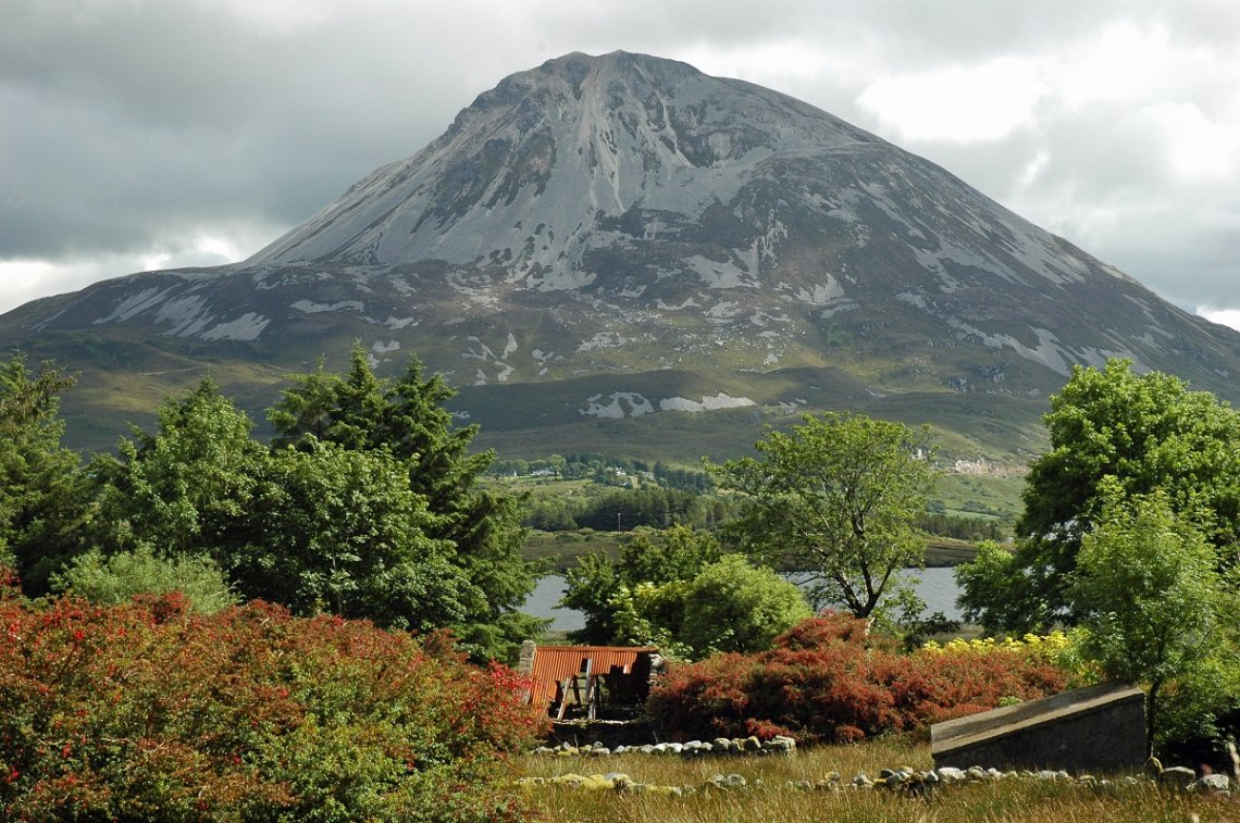 Blick auf den Mount Errigal, Donegal