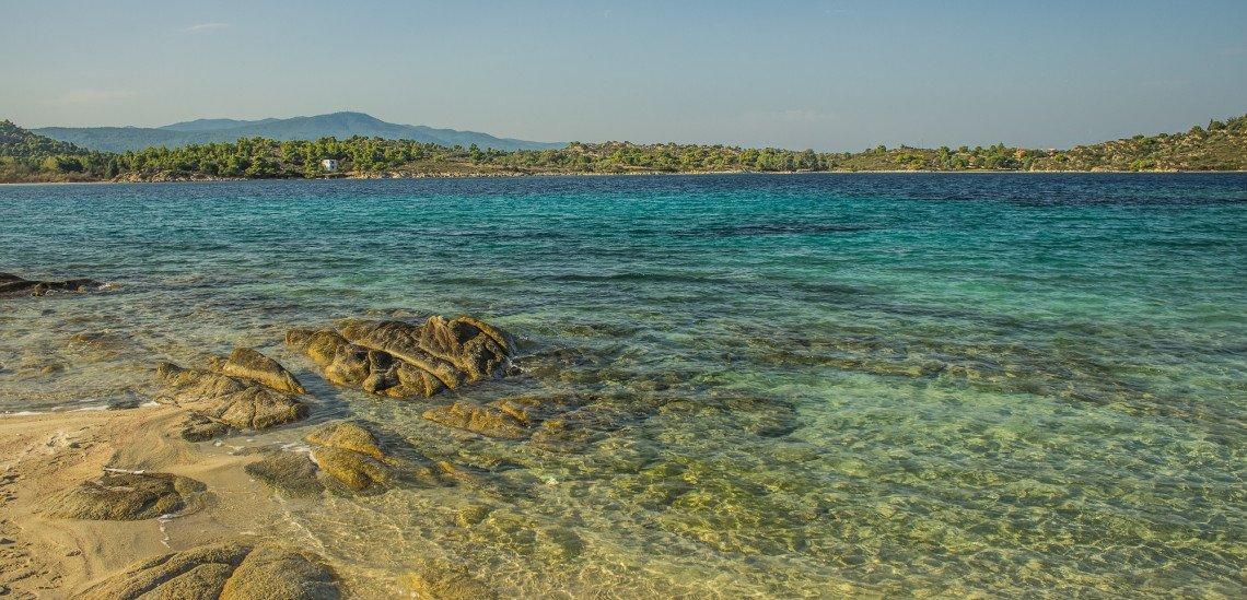 Blick übers Meer Istrien, Kroatien
