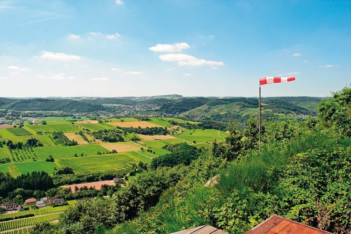 Blick vom Bockstein ins Tal