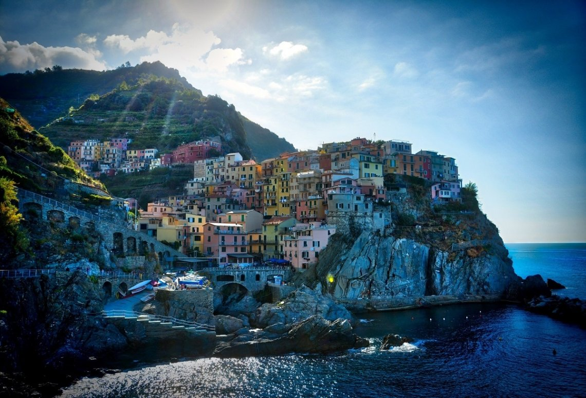 View on Manarola from the sea