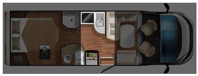 Grundriss L-Küche Wohnmobil