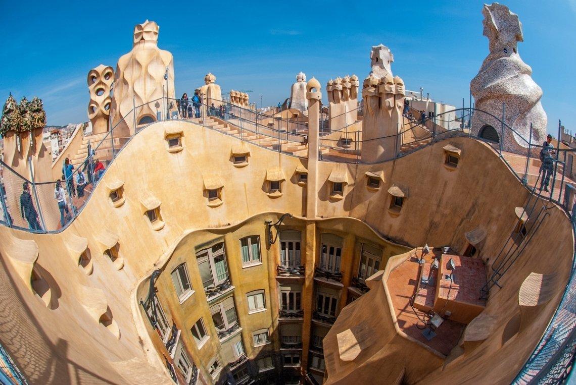 Gaudi-Architektur in Barcelona